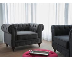 Butaca gris - Sillón tapizado - CHESTERFIELD