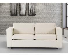 Sofá beis - sofá de piel - 3 plazas - HELSINKI