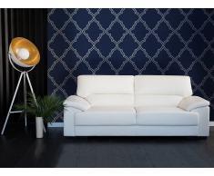 Sofá blanco - Canapé de piel - 3 plazas - VOGAR