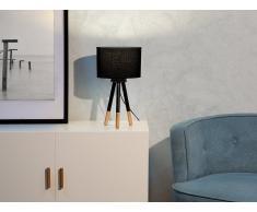 Lámpara de mesa - Lámpara de noche - Negro - TOBOL