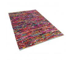 Alfombra de algodón - Multicolor - 80x150 cm- BAFRA