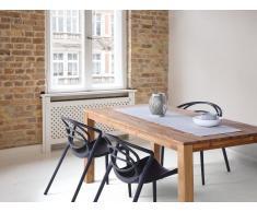 Mesa extensible en madera de roble marrón claro 150x85 cm MAXIMA
