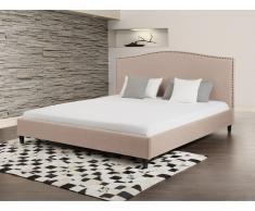 Cama tapizada - 140x200 – Tamaño extra grande – Beige - MONTPELLIER