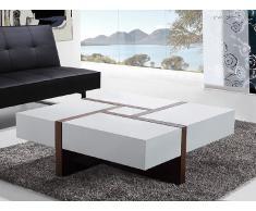 Mesa de centro - Con 4 cajones - 100cm x 100cm - EVORA