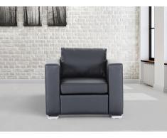 Butaca negra - sillón de piel - HELSINKI