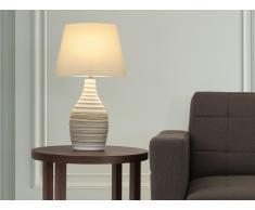 Lámpara de mesa - Pie de cerámica - Color crema - TORMES