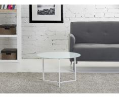 Mesa de centro - Mesa auxiliar - 60x40 cm - Color blanco - TRIBECA