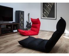 Puf silla - Cojín para sentarse - Rojo - BALKA