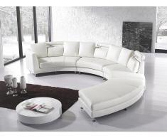 Sofá redondo blanco - sofá de piel - sofá 7 plazas - ROTUNDE