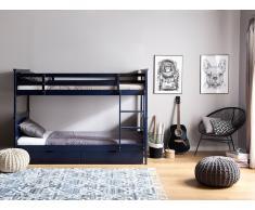 Litera de madera, color azul oscuro 90x200 cm RADON