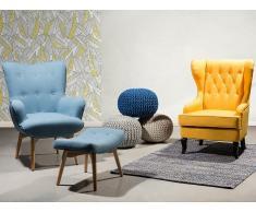 Butaca - Azul - Sillón tapizado - Reposapiés - VEJLE