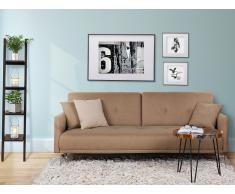 Sofá cama beige - Canapé - Sofá tapizado - LUCAN