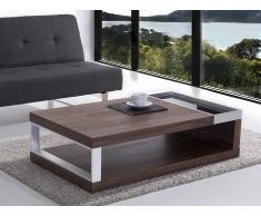 Moderna mesa de centro - madera de nogal - marco de acero 120 x 70 cm - FARO
