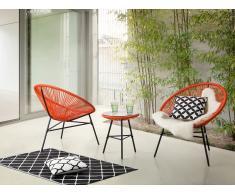 Conjunto de jardín - Mesa - 2 sillas - Naranja - ACAPULCO