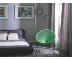 Conjunto de 2 sillas de jardín verde ACAPULCO