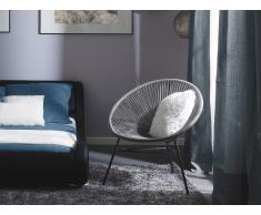 Conjunto de 2 sillas de jardín gris claro ACAPULCO
