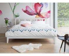 Cama de madera - Tamaño extra grande - Blanca - 180 x 200 cm - CALAIS
