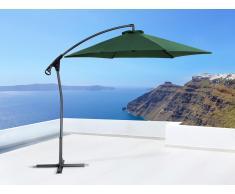 Sombrilla de jardín - Color verde - Poste de acero - ASTI II