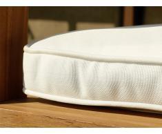 Colchón para banco de jardín 180 cm - Cojín para mobiliario de exterior - Color beis