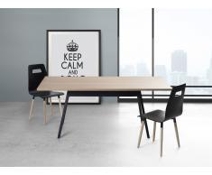 Mesa de comedor – 180cm- Negro – FLOW