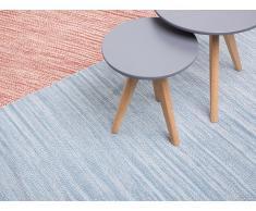 Alfombra de algodón - Azul - 80x150 cm - Hecha a mano - DERINCE