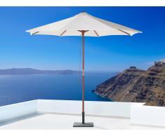Sombrilla de jardín - Color beige claro sin volantes - Madera - TOSCANA