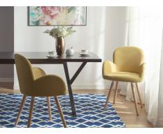 Conjunto de 2 sillas de comedor color mostaza BROOKVILLE