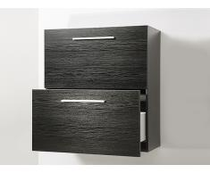 Mueble de baño - Cierre suave - Negro - MURCIA