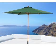 Sombrilla de jardín - Color verde sin volantes - Madera - TOSCANA