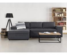 Sofá esquinero – Sofá cama - Tapizado – Chaise longue – Gris oscuro – Almacenaje - KIRUNA
