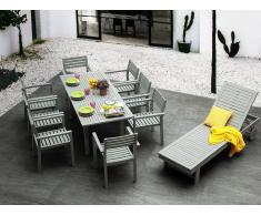 Conjunto de 2 sillas de jardín madera gris MATERA
