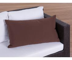Cojín de jardín - Almohadón para mobiliario de exterior - 40x70 cm marrón