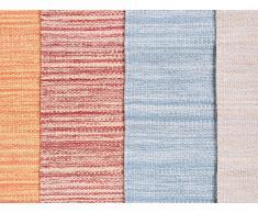 Alfombra de algodón - Roja - 80x150 cm - Hecha a mano - DERINCE