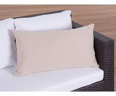 Cojín de jardín - Almohadón para mobiliario de exterior - 50x70 cm caramelo