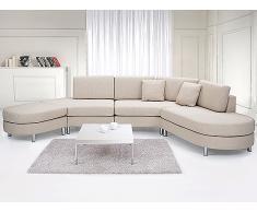 Sofá beis - sofá tapizado - sofá esquinero - 5 asientos - COPENHAGEN