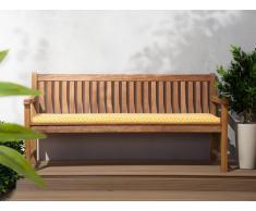 Colchón para banco de jardín TOSCANA/JAVA amarillo 169x50x5 cm