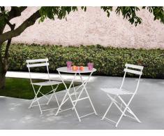 Conjunto de jardín en aluminio mesa y 2 sillas blanco FIORI