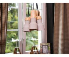 Lámpara de techo - Concreto - Gris y marrón - 5 Focos - APURE