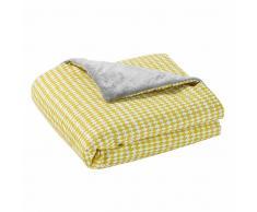 Maisons du Monde Manta de bebé de algodón amarillo/gris 75 x 100 cm GASTON