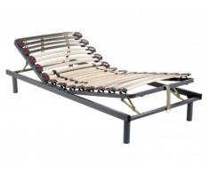Somier articulado manual, 3 posiciones de cama - Firmeza regulable - 70x190 cm