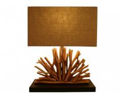 Lámpara de mesa KOVDOR de madera - Altura 50 cm