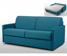Sofá cama italiano 3 plazas de tela CALIFE - Azul