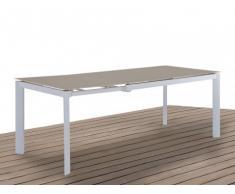 Mesa de comedor de jardín extensible PALAOS - 4-6 comensales - Topo