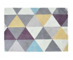 Alfombra tejida de estilo escandinavo NOROI -poliéster - 120 x 170 cm - Multicolor
