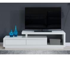Mueble TV ARTABAN - 2 cajones - MDF lacado - Blanco
