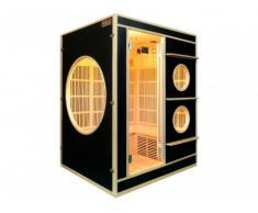 Sauna Infrarroja 3/4 plazas NIVALA - Negro
