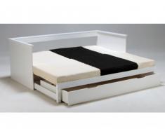 Cama nido ALFIO con cajón de almacenaje - 90 x190 cm - Lacado blanco
