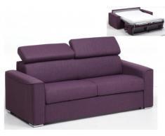 Sofá cama italiano 3 plazas de tela VIZIR - Violeta