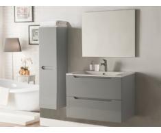 Conjunto STEFANIE - muebles para baño y espejo - Lacado gris