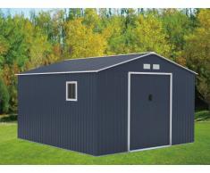 Caseta de jardín ARCHER de acero galvanizado gris - 12,99m²